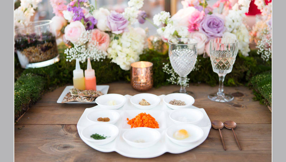 wedding food , wolf gang puck catering, carrot tartare
